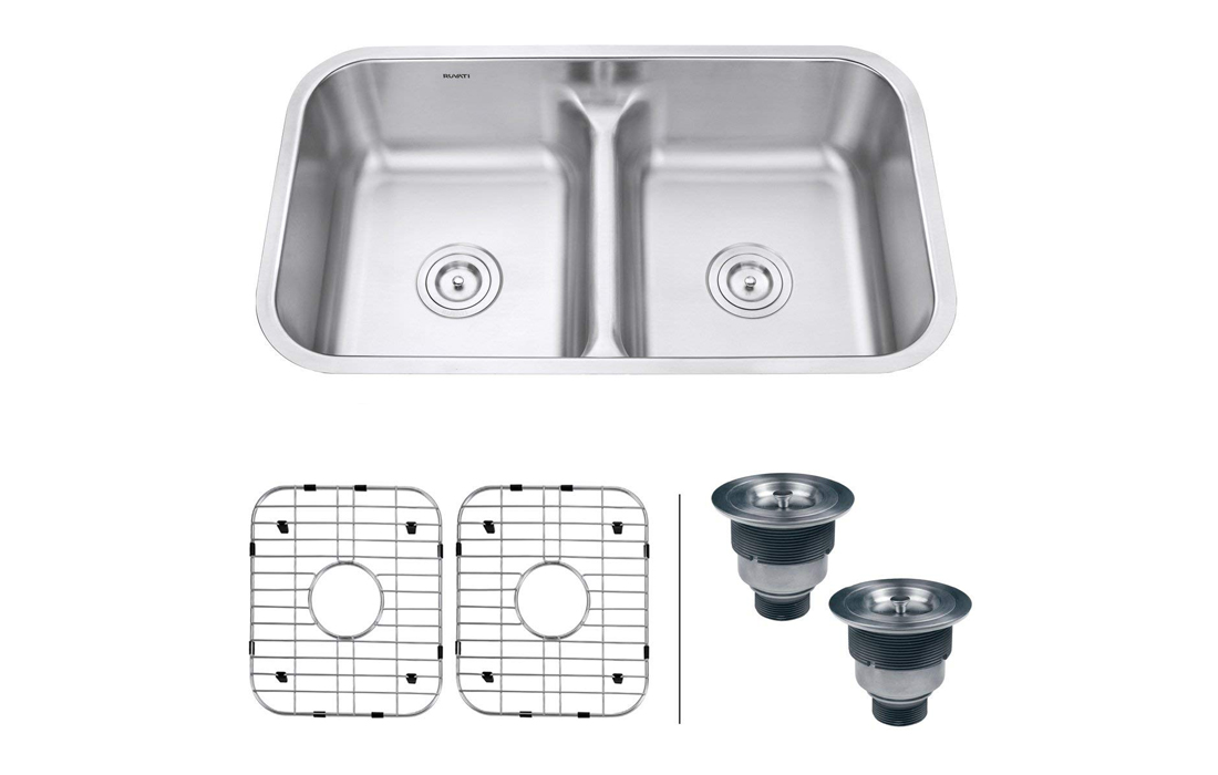 Ruvati Double Bowl Undermount Stainless Steel kitchen sink