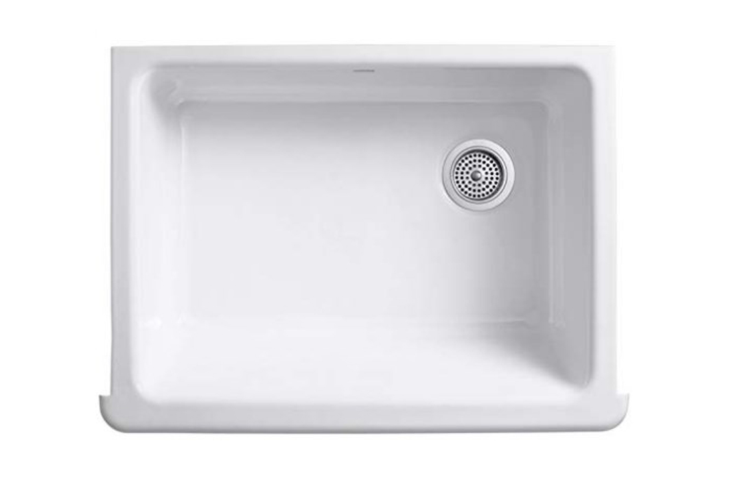 Kohler K-6486-0 Whitehaven Self-Trimming Under-Mount Single-Bowl Kitchen Sink