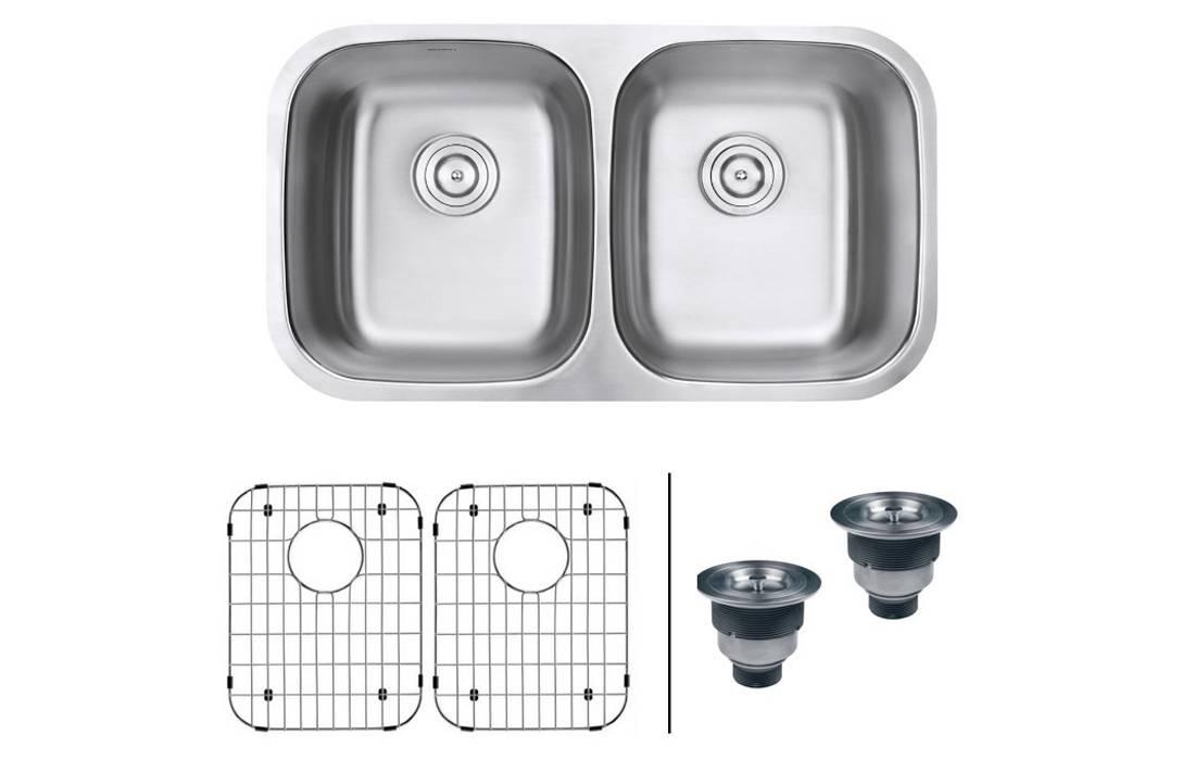 Ruvati 32-inch Undermount Double Bowl Kitchen Sink