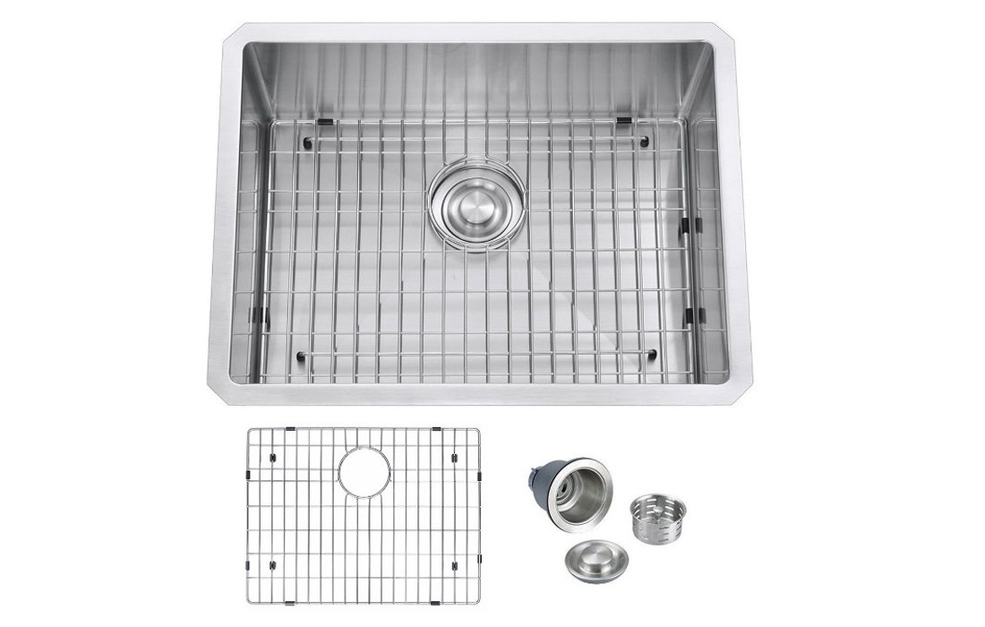 BILLION Undermount Single Bowl T304 Stainless Steel Kitchen Sink