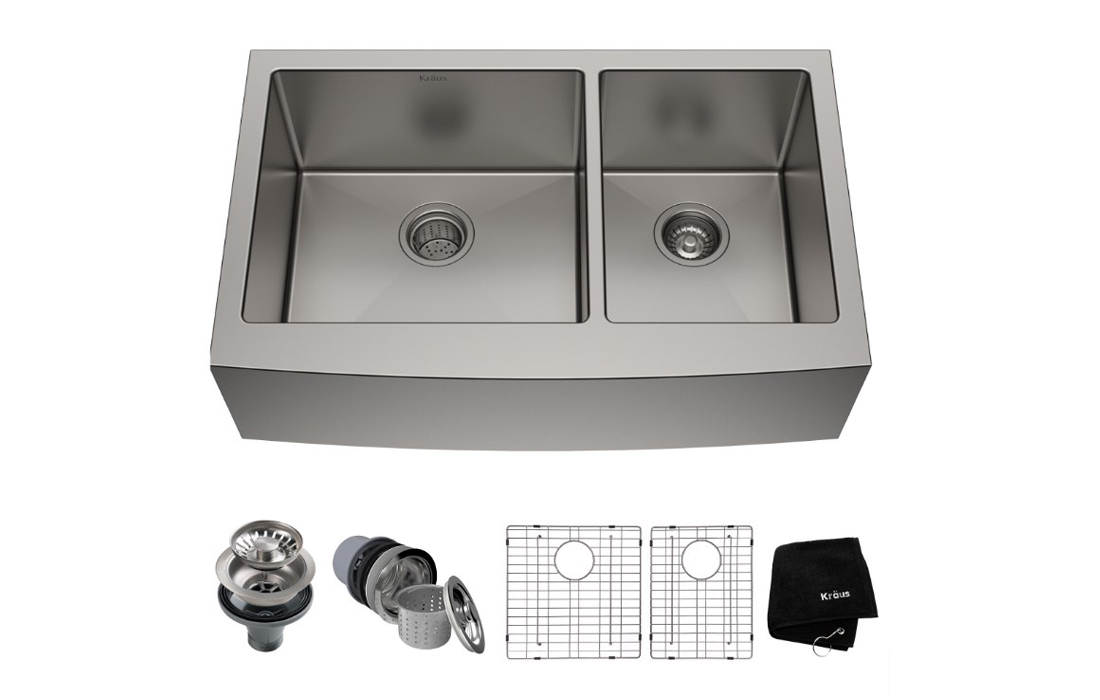 Kraus KHF203-36 Standart PRO Kitchen Stainless Steel Sink