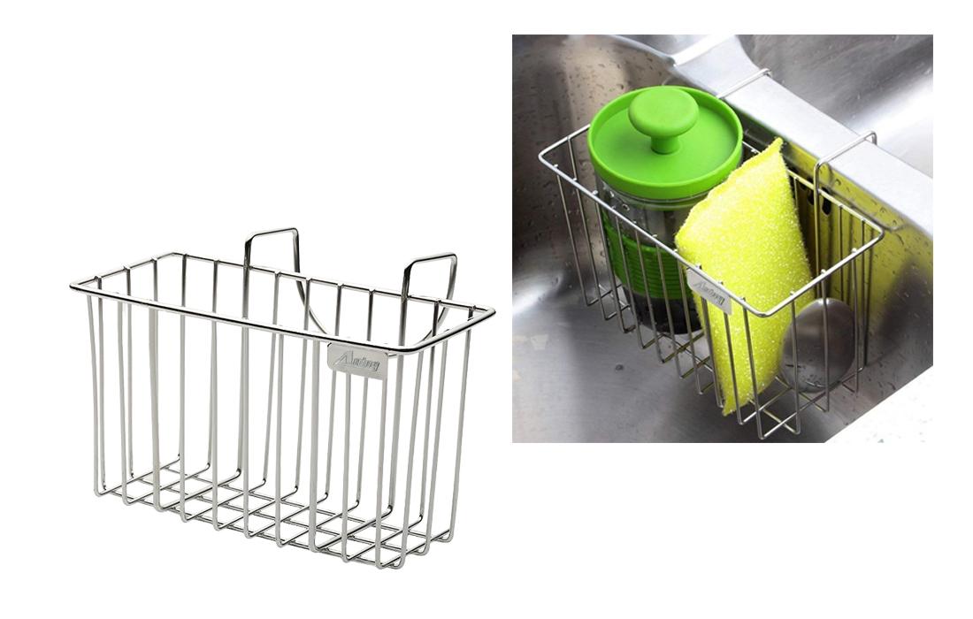 Aiduy Sink Caddy Brush Soap Dishwashing Liquid Drainer Rack